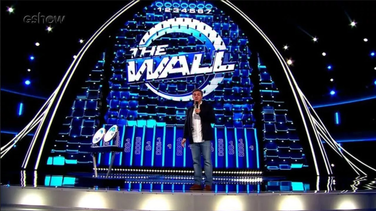 Criatura participa do programa The Wall, na TV Globo